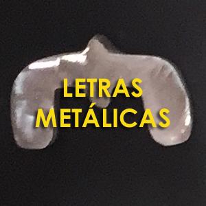 Letras metálicas